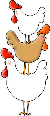 Cute Doodle Chicken & Egg Clipart Set Ideal by CollectiveCreation.