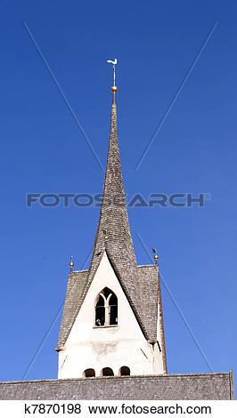 Stock Illustration of mountain church k7870198.