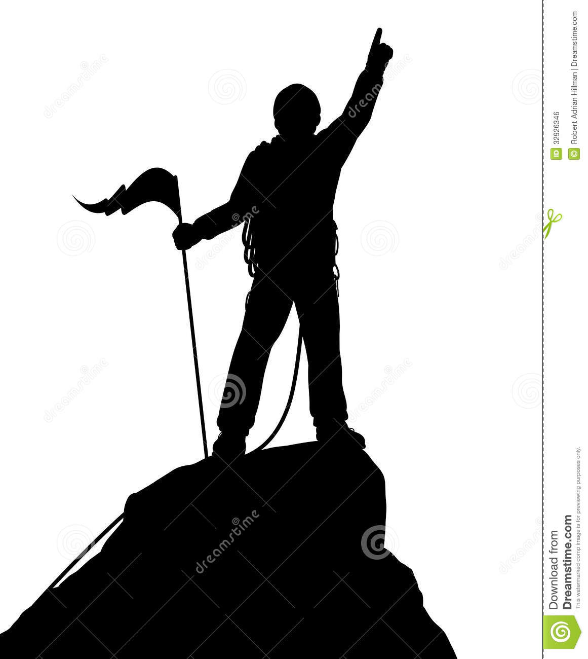 Mountain Climbing Clipart.