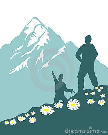 Free clipart mountain climber.