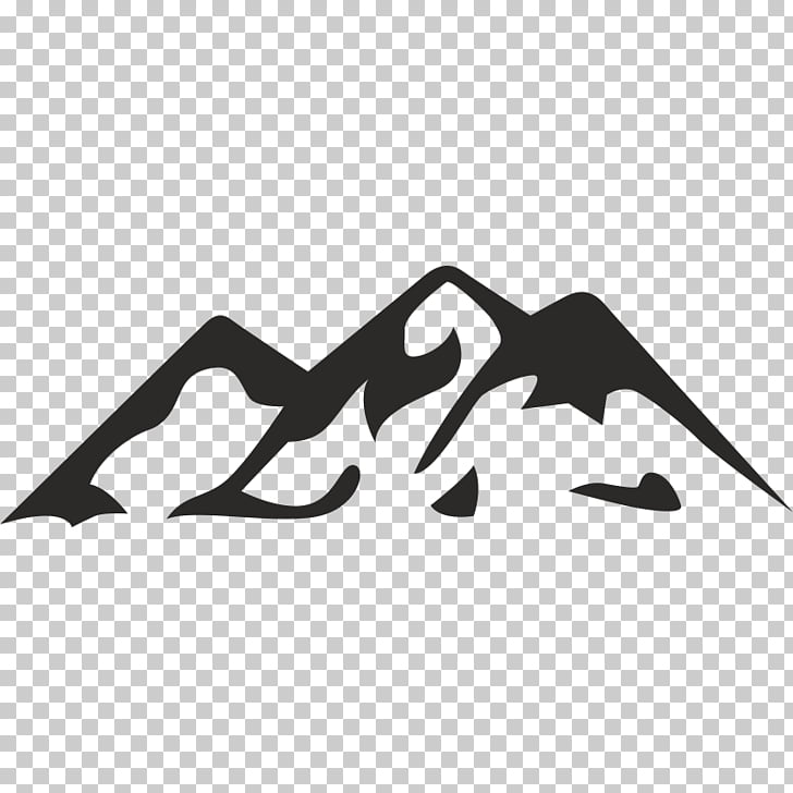 Silhouette Mountain Mesa, Silhouette PNG clipart.