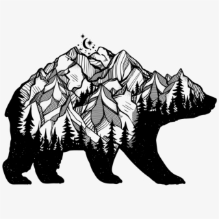 Bear With Mountains Clipart , Png Download.