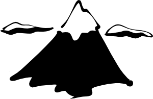 Sneptune Mountain In Ink Clip Art.