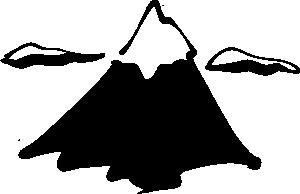 Sneptune Mountain In Ink Clip Art.