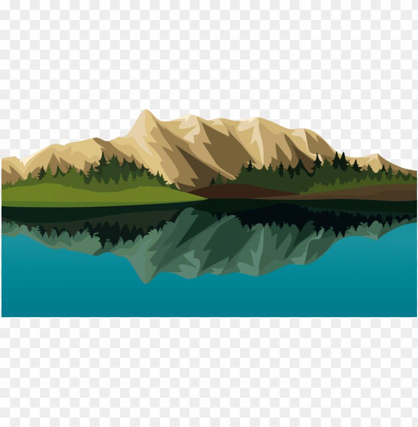cartoon mountain lake clipart lake.