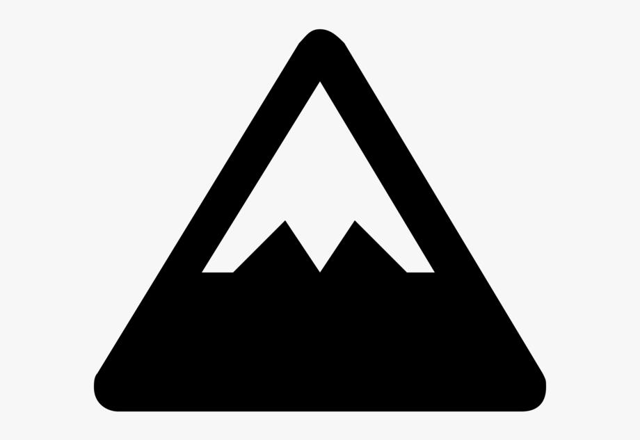 Mountains Clipart Icon.