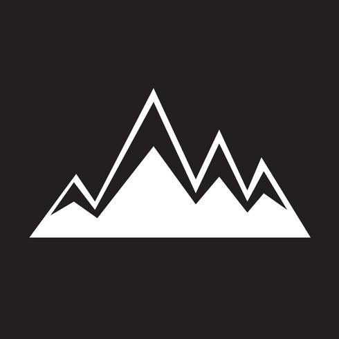 mountains icon symbol sign.