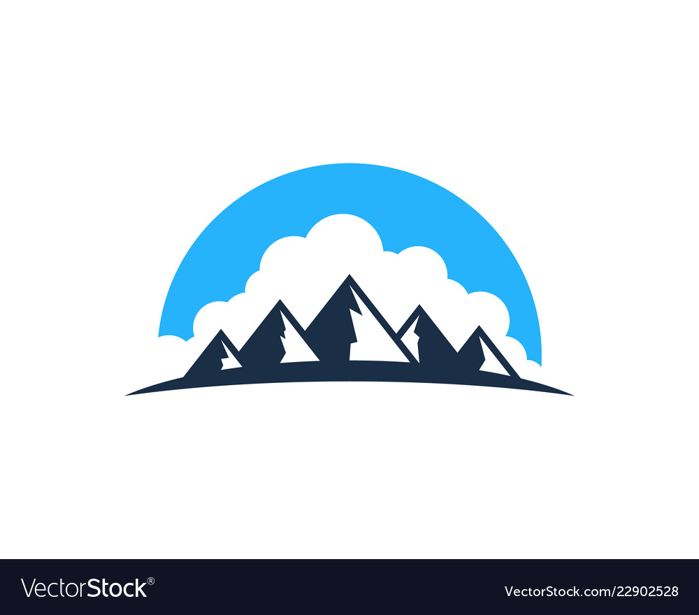 Cloud mountain logo icon design.