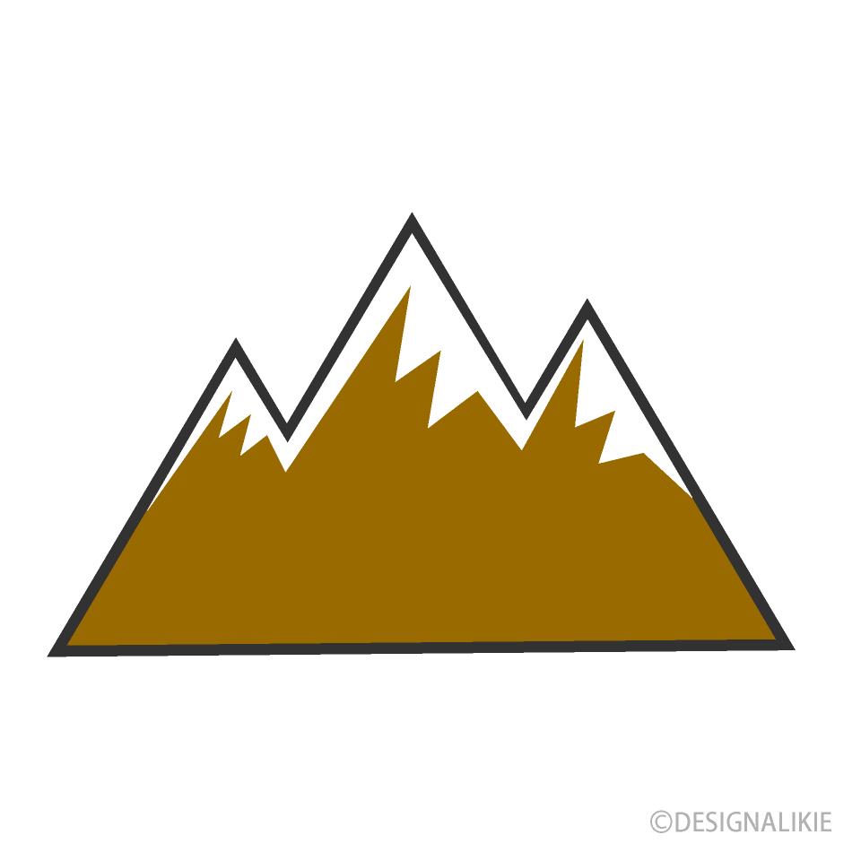 Free Snow Mountain Clipart Image|Illustoon.