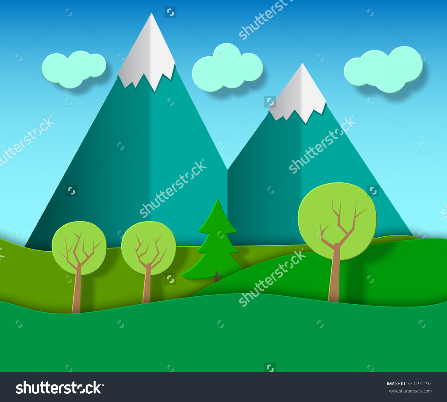 Showing post & media for Cartoon mountain and clouds clip art.