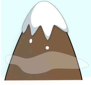 Brown Mountain With Sky And Clouds Clip Art at Clker.com.
