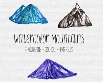 Watercolor Crystals Crystal Clipart Watercolor Clipart.