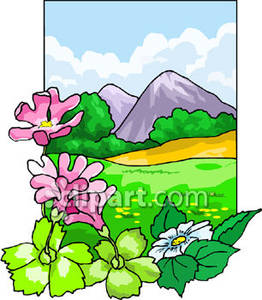 Meadow Flowers Clipart.
