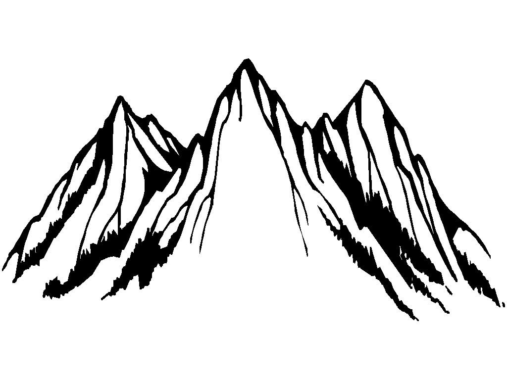 Mountain Drawing Outline.