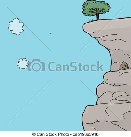 EPS Vector of Cave in Mountain Side.