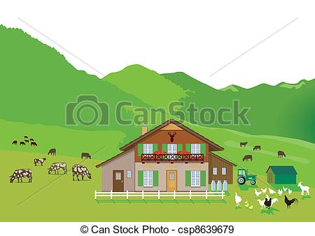 Vector Illustration of Farmer Milking Cow Oval Woodcut.