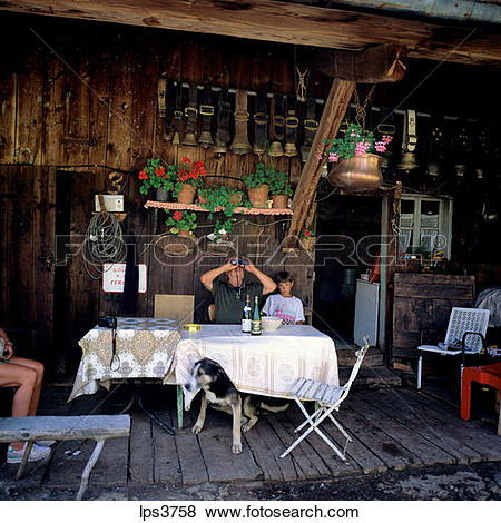 Pictures of 50 France French Alps Savoie Elderly Mountain Farmer.