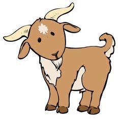 Farm goat clipart.