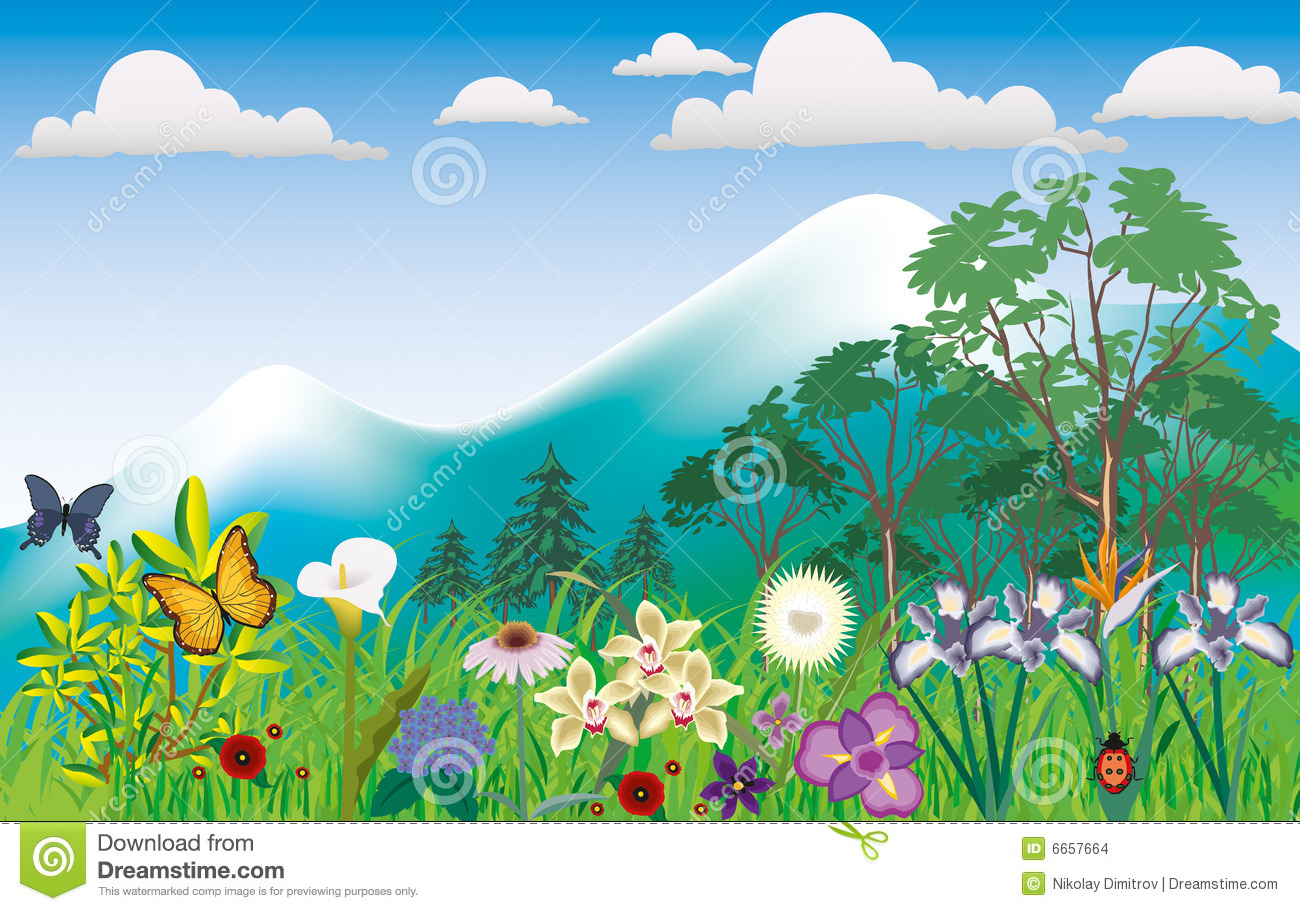 Scenery flower clipart.