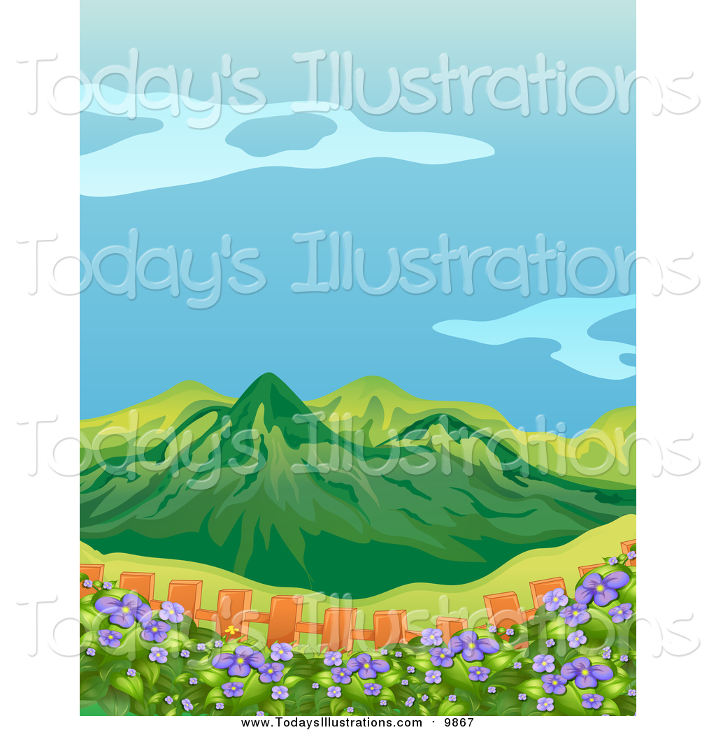 Mountain flowers clipart.