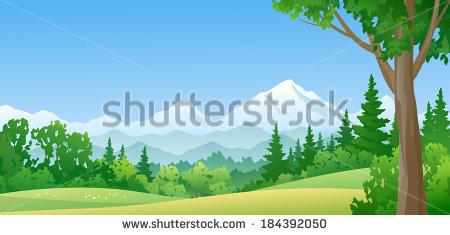 Clipart Illustration Mountain Stock Photos, Royalty.