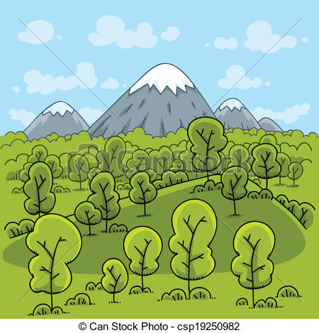 Vector of Forest Mountain.