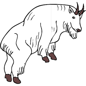 Mountain Goat clipart, cliparts of Mountain Goat free download.