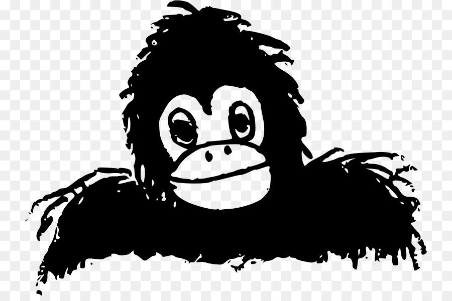 Mountain gorilla Ape Primate Clip art.
