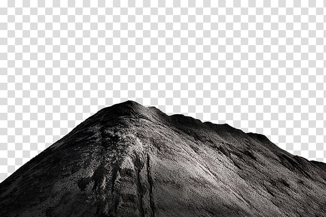 Black mountain graphic transparent background PNG clipart.