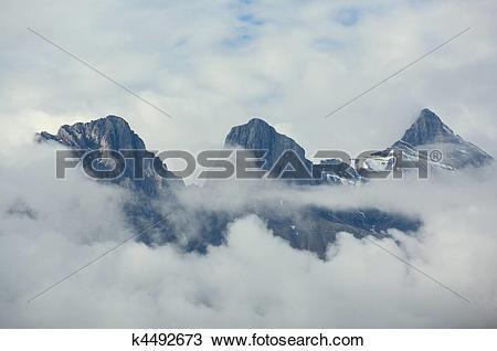 Stock Photo of Three Sisters mountain group k4492673.