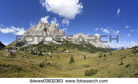 "Stock Photo of ""The Dolomites and the Tofane mountain group."