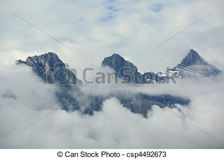 Stock Photos of Three Sisters mountain group.