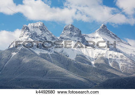 Stock Photography of Three Sisters mountain group k4492680.