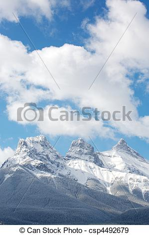 Stock Photographs of Three Sisters mountain group.