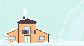 Detached Guest House Winter Stock Illustrations, Vectors.