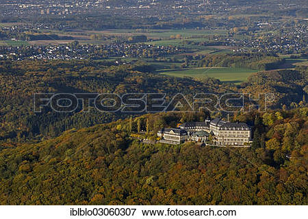 """Picture of """"Aerial view, Petersberg Mountain with the Federal."""