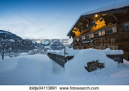 Stock Photography of Deep snow.