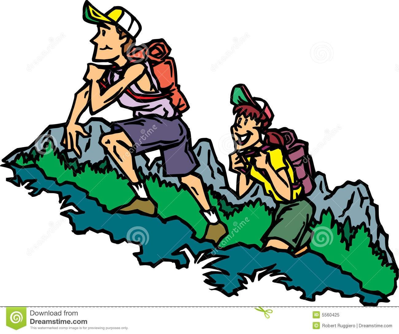 Mountain hiking clipart.