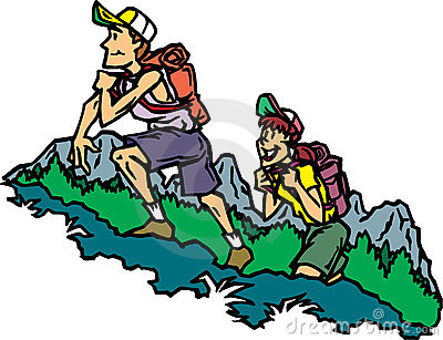 Hikers Stock Illustrations.