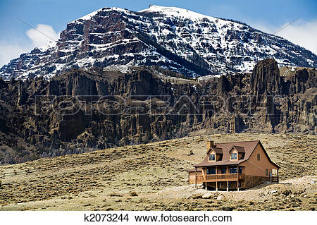 Stock Photo of mountain home k2073244.