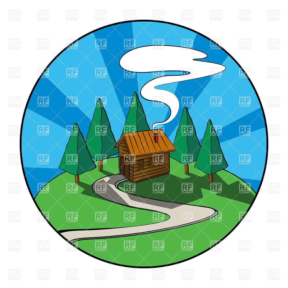 Log Cabin Clip Art.
