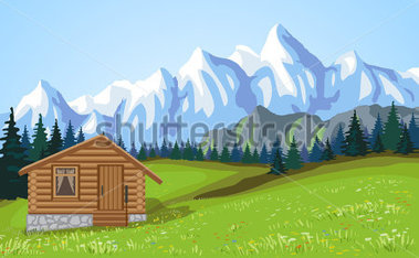 Mountain house clipart.