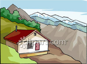 House with Mountains In the Background.