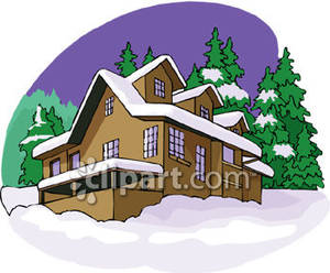 House with Snow on the Roof.