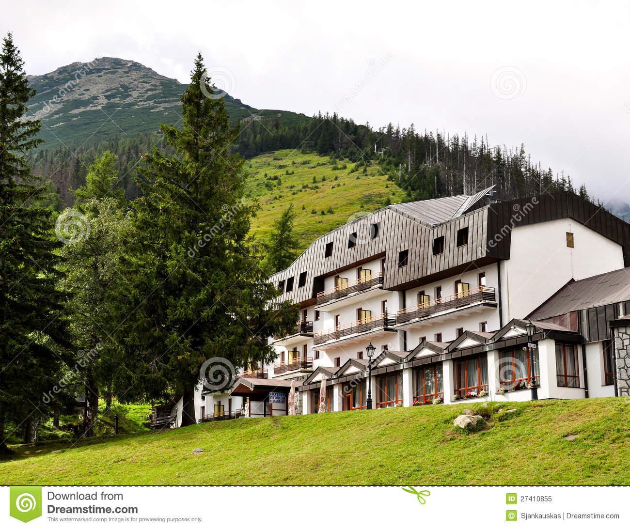Mountain Hotel Royalty Free Stock Photo.