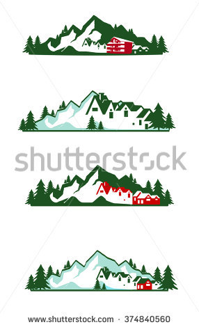 Mountain Hotel Logo Stock Illustration 374840560.