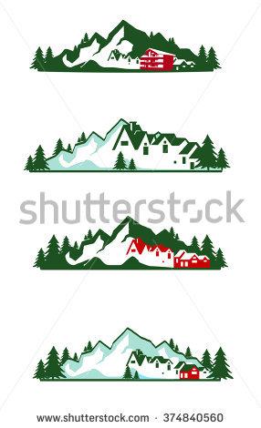 Mountain Hotel Logo Stock Illustration 374840560.