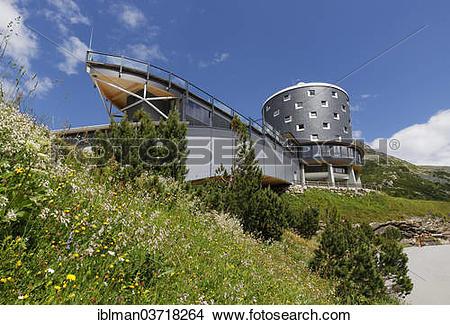 "Stock Photo of ""Malta mountain hotel and the VERBUND."