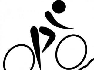 Hotel Icon Mountain Biking clip art.