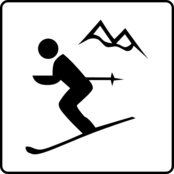 Ski Mountain Clipart.